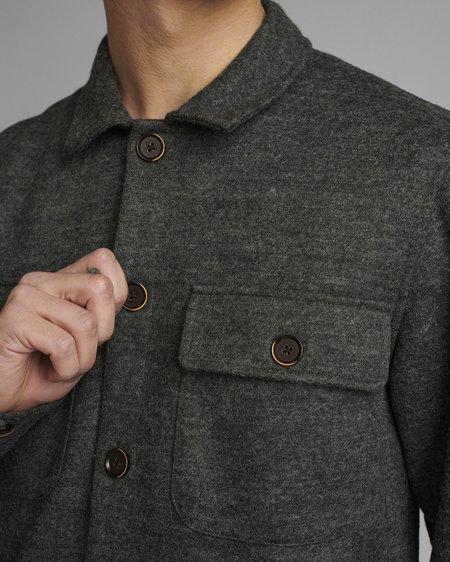 Anerkjendt Sobrecamisa Akoscar Boiled Wool - Granit Grey Melange