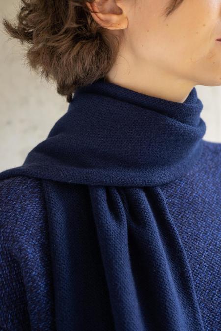 UNISEX Oyuna centia cashmere shawl - navy