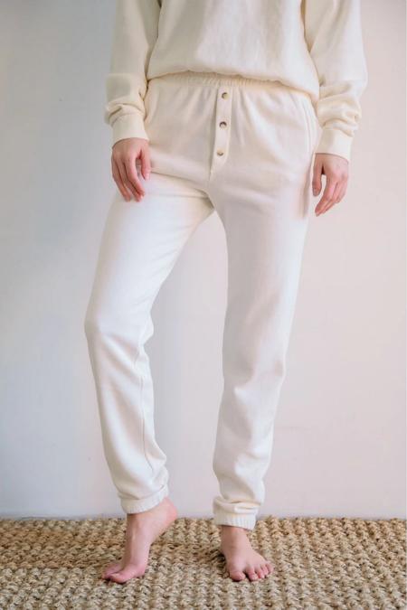 Donni. Vintage Fleece Jogger - Creme
