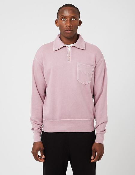 Lady White Co. Quarter Zip Sweatshirt - Clay Pink
