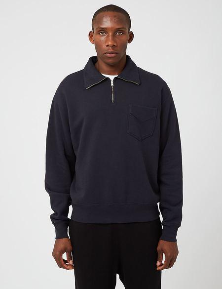 Lady White Co. Quarter Zip Sweatshirt - Ink Navy Blue