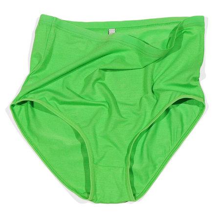 Baserange  Bamboo Jersey Highwaist Bell Pants - Ara Green