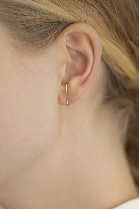 Kathleen Whitaker 14K Gold Medium Stitch Earring