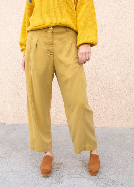 Back Beat Tencel Work Pant-Yellow