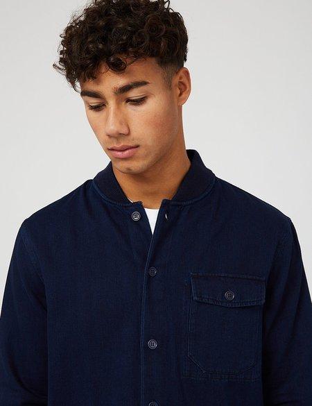 YMC Herringbone Twill Delinquents Shirt - Indigo Blue