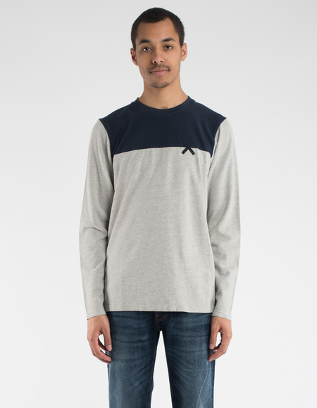 Oh Dawn Clean Cut Long Sleeve T-Shirt Light Grey Melange