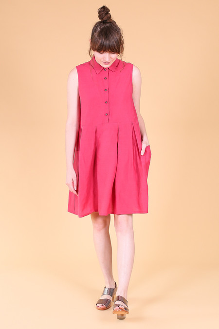 Creatures of Comfort Malu dress in dark pink