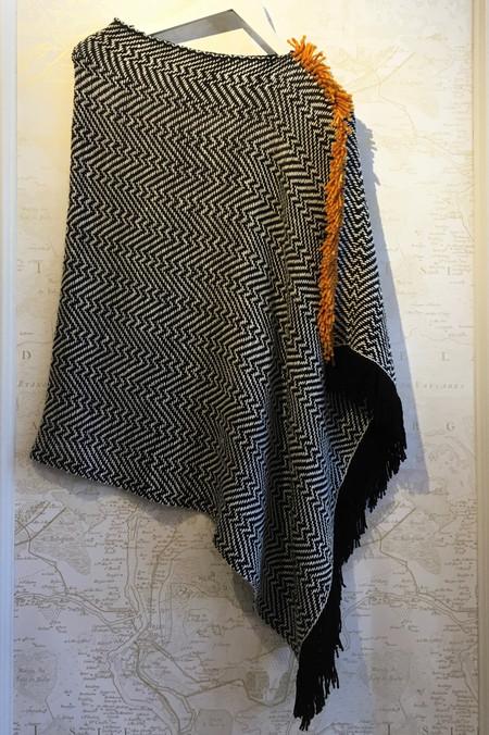 Wehve Merino Silk Poncho with Fringe