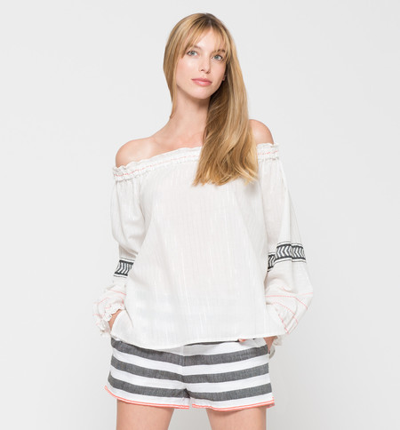 Lemlem Zana Off-Shoulder Top