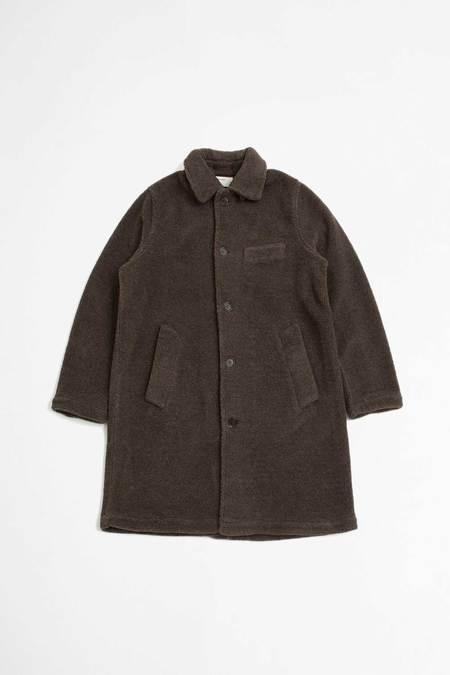 Universal Works Rocket fleece short overcoat - brown