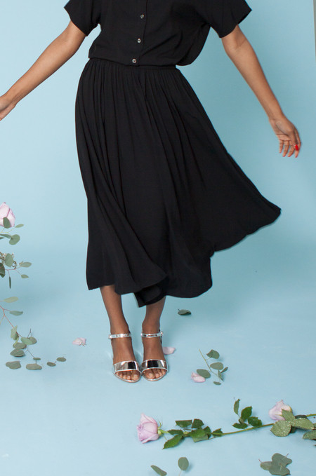 Plante Rose Skirt - Black