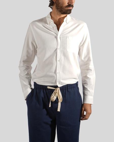 Portuguese Flannel Belavista Shirt - Off White