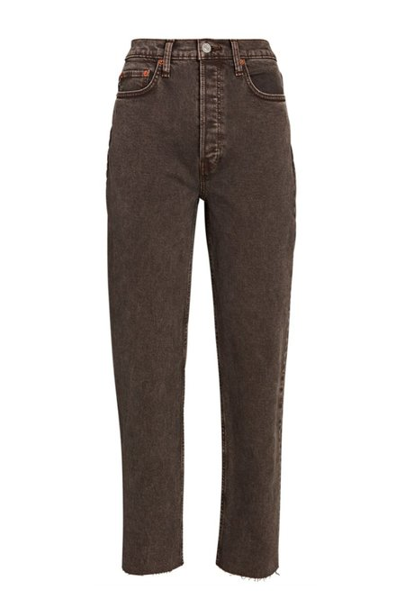RE/DONE 70s Ultra High Stove Pipe pants - Washed Chocolate