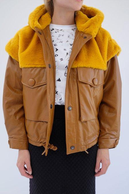 OOFWear Vegan Leather Jacket - Terracotta