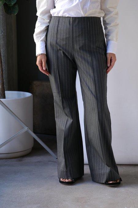 Ganni Recycled Kick Flare Trousers - Phantom