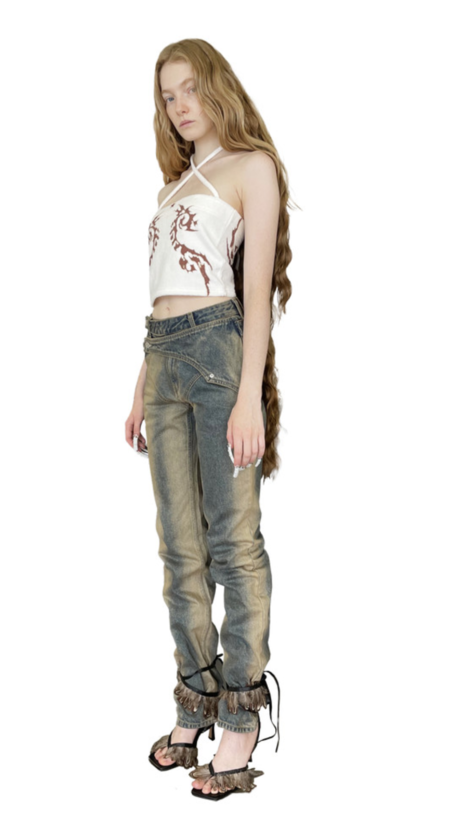 604serviceDouble Layer Jeans