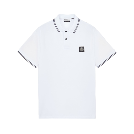 Stone Island Polo Shirt - White/Black