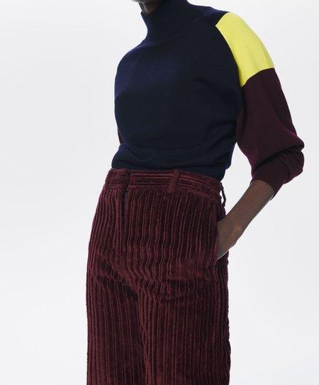 Victoria Beckham Colour-Block Blouson Sleeve Jumper