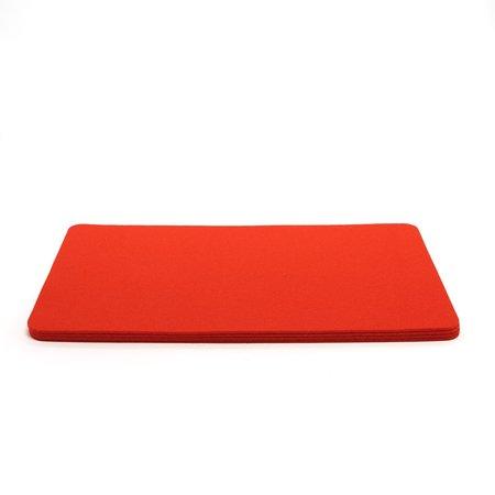 Graf Lantz Rectangle Felt 4 Pack Placemat - orange