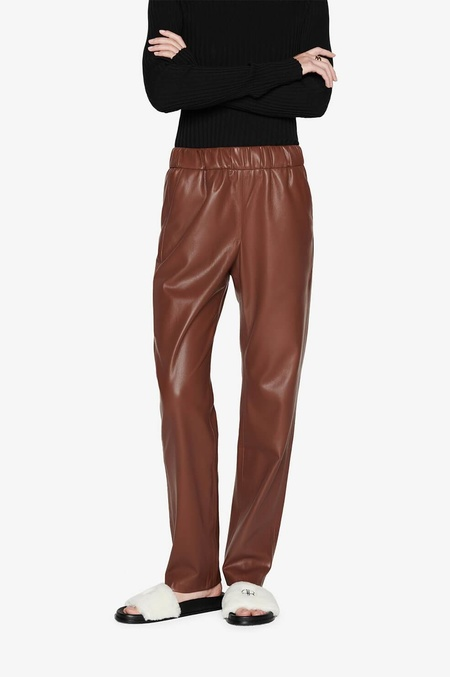 Anine Bing Colton Track Pant - Brown