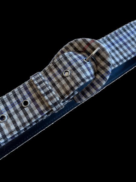 Christine Alcalay Wide Wool Belt - Multi Plaid