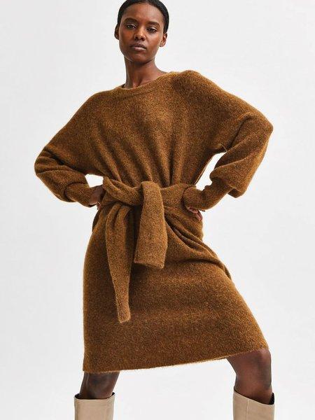 Selected Femme Lulu Knitted Dress - Rubber