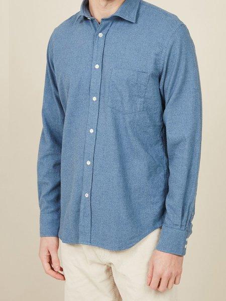 Hartford Paul Flannel Shirt - Denim