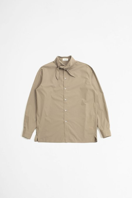 Lemaire Tie Neck Shirt - Greige