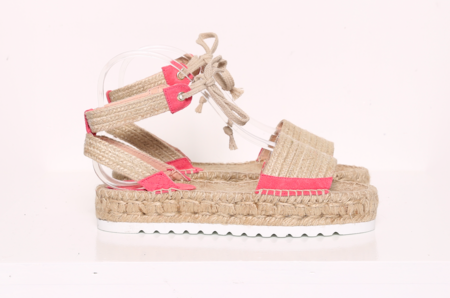 """Intentionally __________."" Sun Espadrille - Coral"