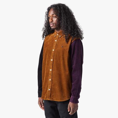 Carhartt WIP L/S Triple Madison Cord Shirt - BROWN