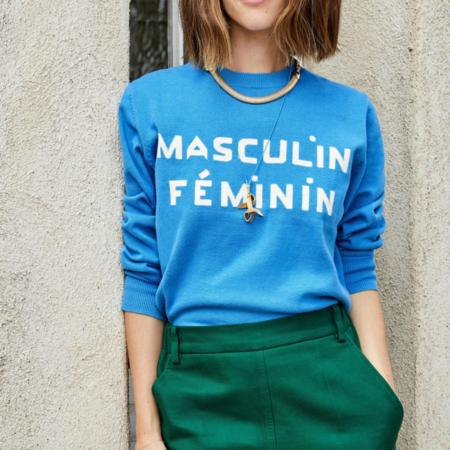 Clare V.Classic Sweater - Blue