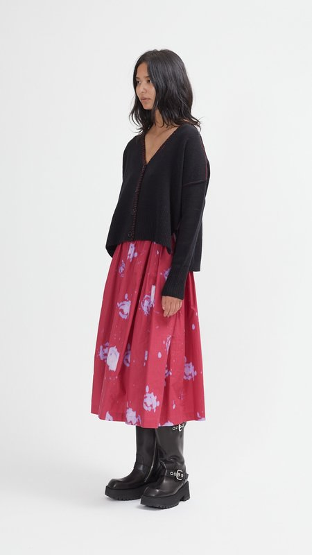 Marni Contrast Stitching V-Neck Cardigan - Black