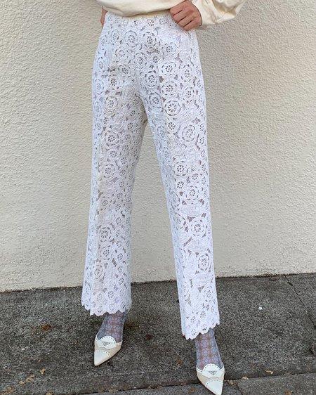 Vintage Crochet Pants - Cream