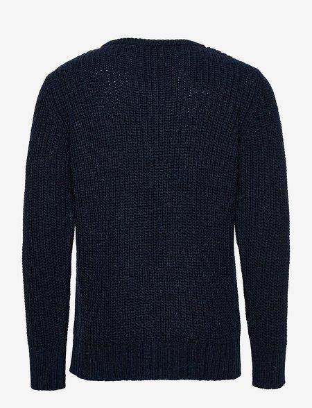 Far Afield Hamish Ribbed Knit Sweater - Black
