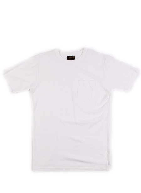 National Athletic Goods Pocket Tee 5oz Mock Twist Jersey White