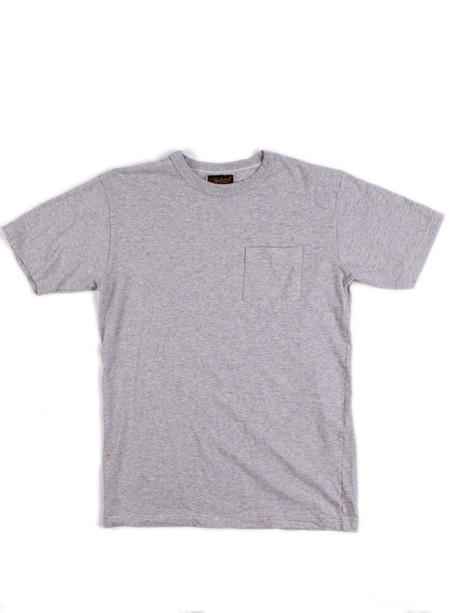 National Athletic Goods Pocket Tee 5oz. Mock Twist Jersey Ash Grey