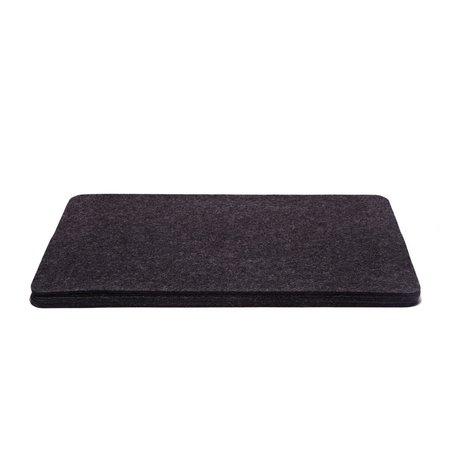 Graf Lantz 6 Pack FELT Rectangle Placemat - Charcoal