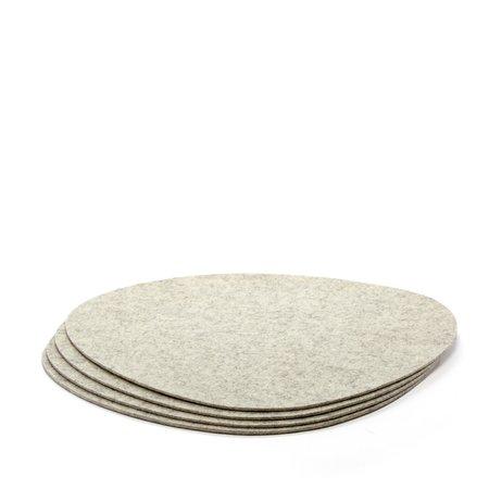Graf Lantz 4 Pack Stone felt Placemat