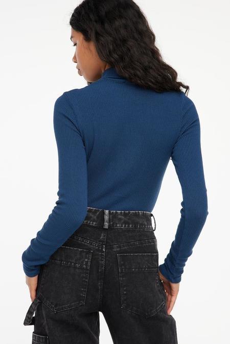 Lacausa Sweater Rib Turtleneck - Lapis