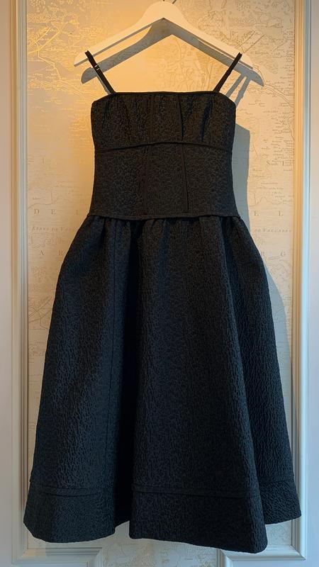 Jonathan Simkhai London Metallese Strapless Dress - Black
