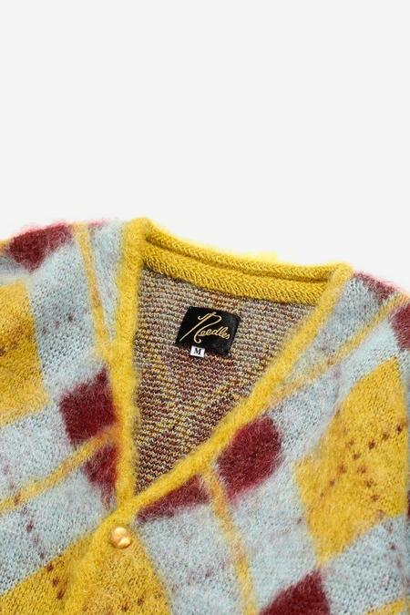 Needles Mohair Argyle Cardigan - Yellow