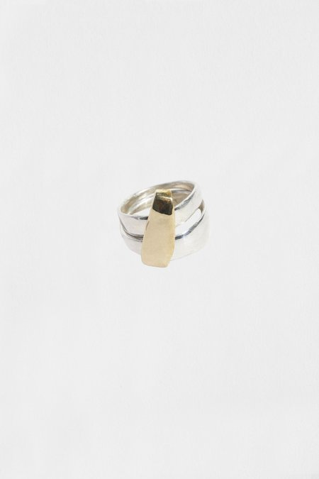 Hernán Herdez DUETO NO. 2 rings - Silver/Gold