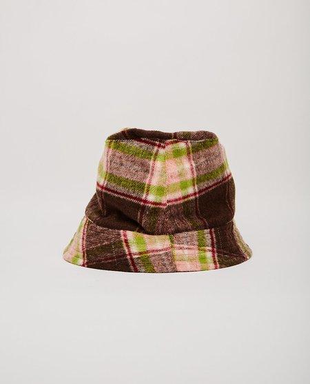 Engineered Garments Bucket Hat - Brown/Pink Plaid