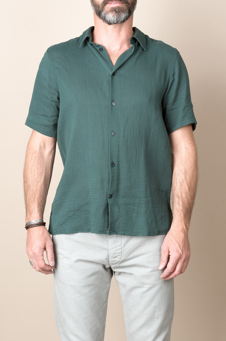 Norse Projects Theo Hemp Seersucker In Verge Green