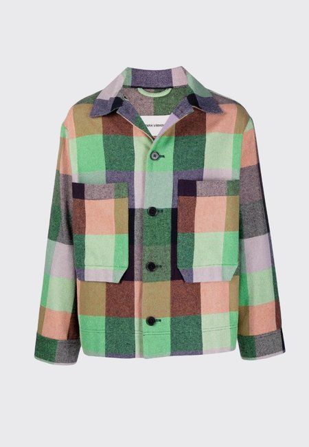 Lamington Jacket - green/orange/lavender