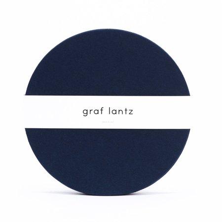 Graf Lantz 4 Pack Round Placemat Felt - Marine