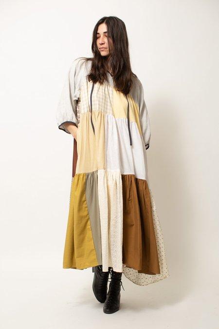 LA RÉUNION Sleeved Patchwork Dress No.2