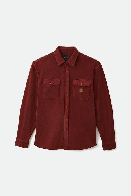 Brixton Bowery Arctic Stretch Fleece Shirt - Brick