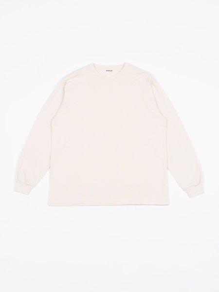 Auralee Luster Plaiting L/S Tee - Light Pink