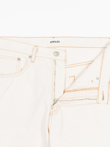 Auralee Organic Cotton Slub Duck 5P Pants - Natural